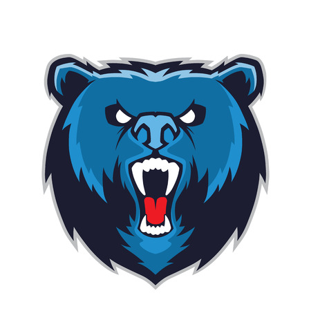 Bear head mascot Illustration