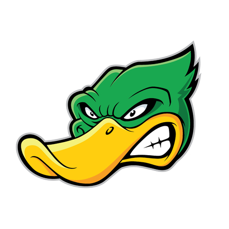 hostile: Duck head mascot