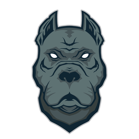 bull dog: Pitbull head mascot