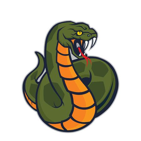 poison fang: Viper snake mascot Illustration