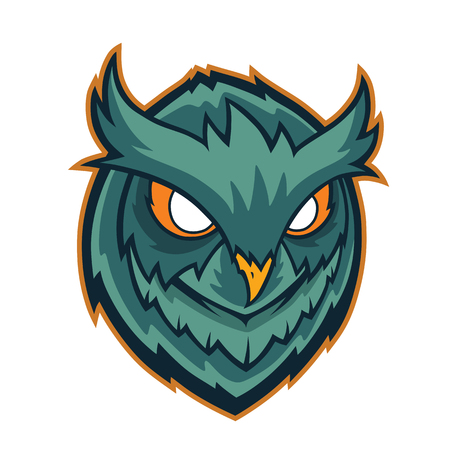 Owls head mascot Illustration
