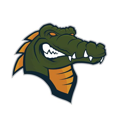 Krokodil-Kopf-Maskottchen Vektorgrafik