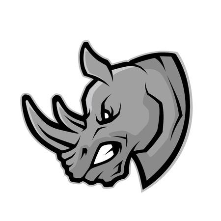 코뿔소 머리 마스코트