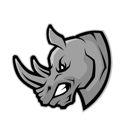 Rhino hoofd mascotte