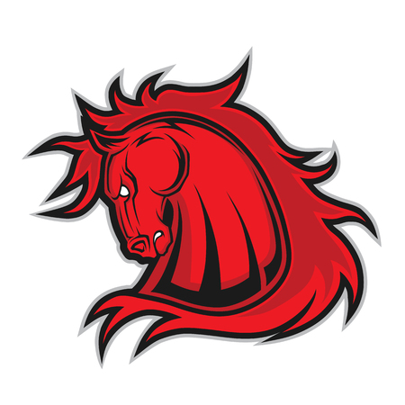 Horse or mustang head mascot Ilustrace