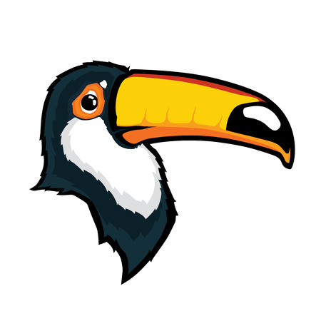 Toucan bird head mascot