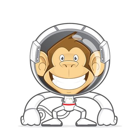 monkey suit: Monkey wearing astronaut costume