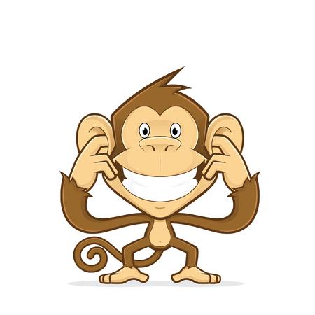 Monkey closing his ears