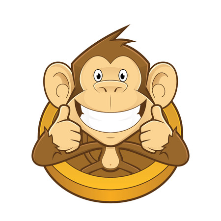 thumb up: Monkey giving two thumbs up