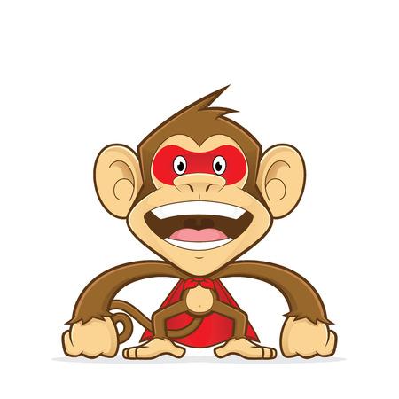 Monkey wearing superhero suit