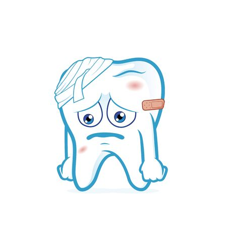bruised: Tooth be injured Illustration