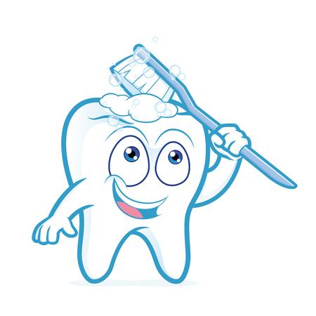 Tooth brushing itself Banco de Imagens - 61122732