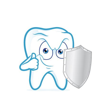metal shield: Tooth holding metal shield