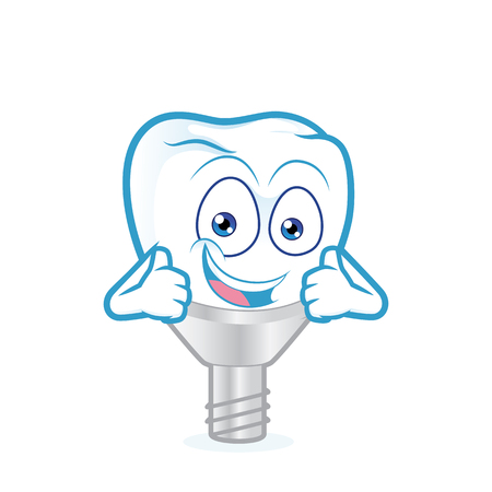 two thumbs up: Tooth implant giving two thumbs up