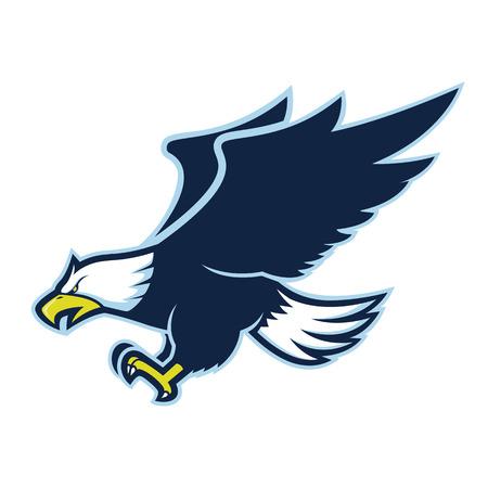 Vliegende adelaar mascotte Vector Illustratie