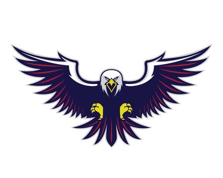 Vliegende adelaar mascotte Stock Illustratie