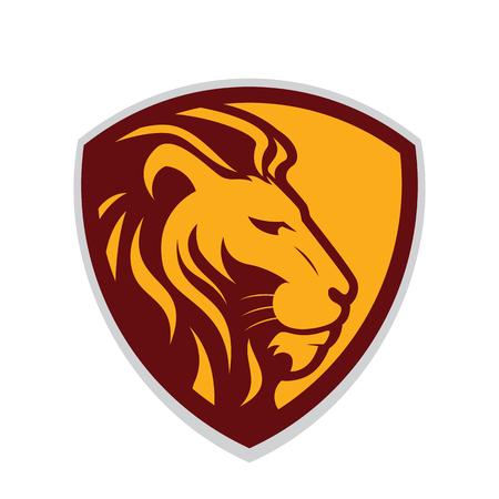 Lion head mascot Ilustração