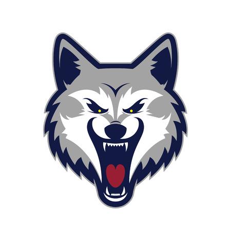Wolf head mascot