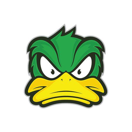 憤怒的鴨子吉祥物 向量圖像