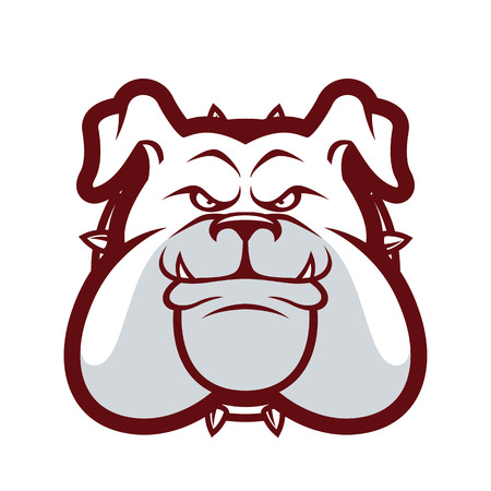 spiked: Bulldog head mascot
