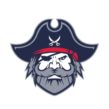 Mascotte de tête de pirate Vecteurs