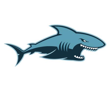 Tiburón logotipo de la mascota Logos