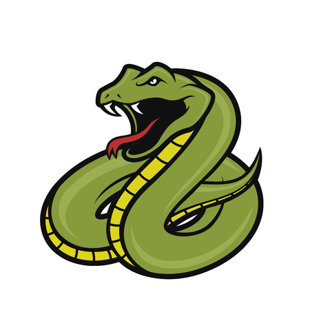 Viper snake mascot Illustration