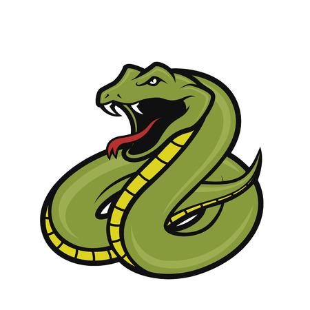 Viper snake mascot Illustration