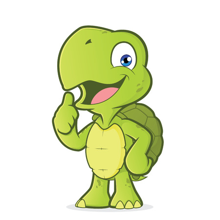 happiness or success: Turtle giving thumbs up Illustration