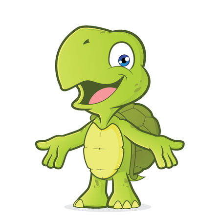 Turtle with welcoming open arms Illustration