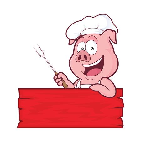 Cerdo chef de barbacoa Foto de archivo - 71722995