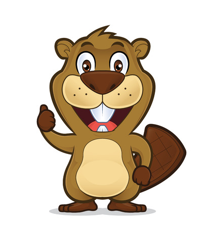 Beaver giving thumbs up
