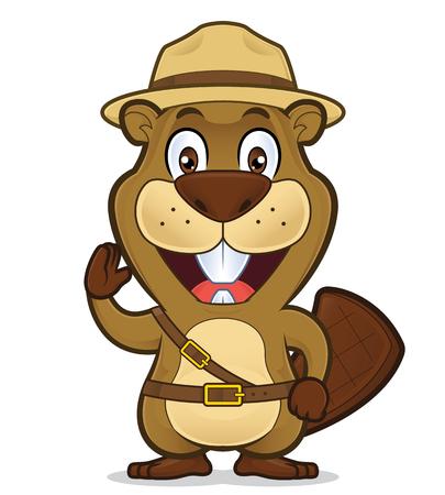 Boy scout beaver Illustration