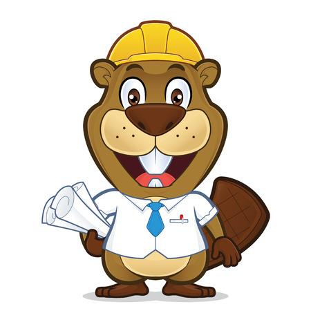 Smiling beaver architect