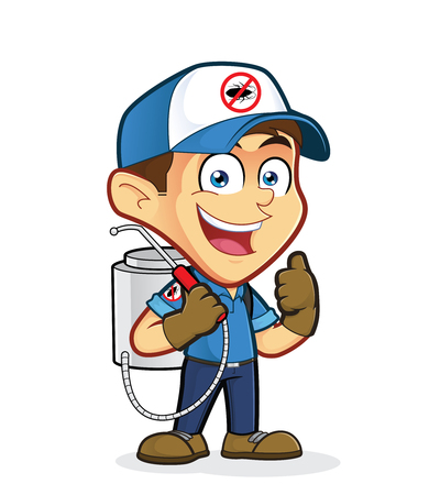 pest control: Exterminator or pest control giving thumbs up