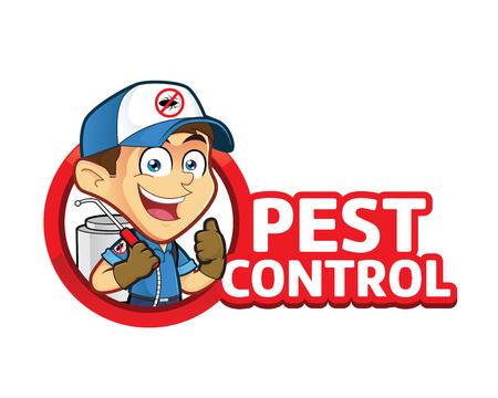 Exterminator o controllo dei parassiti con logo Archivio Fotografico - 76528260