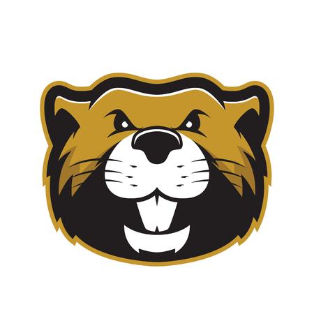 Beaver head mascot 2