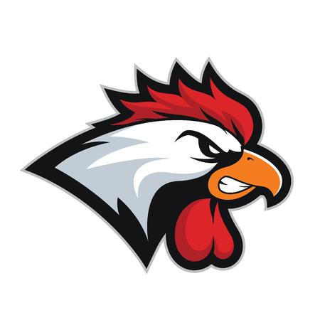 Chicken rooster head mascot 2 Illustration