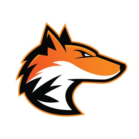 Fox head mascot Ilustrace