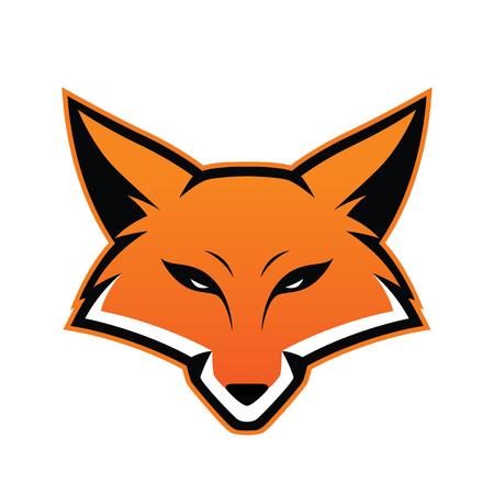 Fox hoofd mascotte