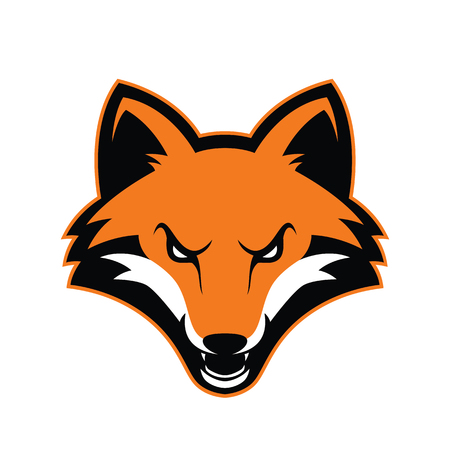 Fox head mascot Ilustrace