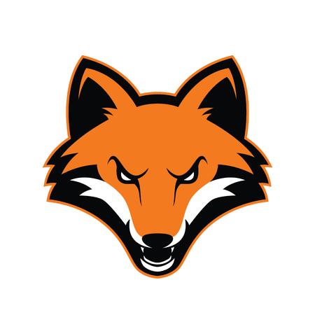 Mascota cabeza de zorro Ilustración de vector
