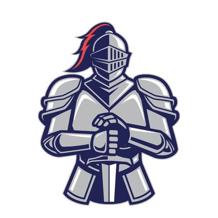 Maskotka wojownika rycerza Ilustracje wektorowe