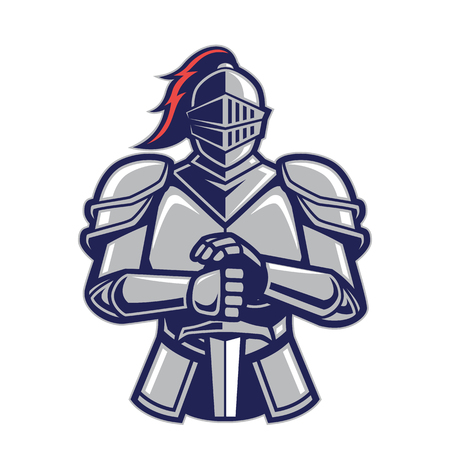Warrior knight mascot