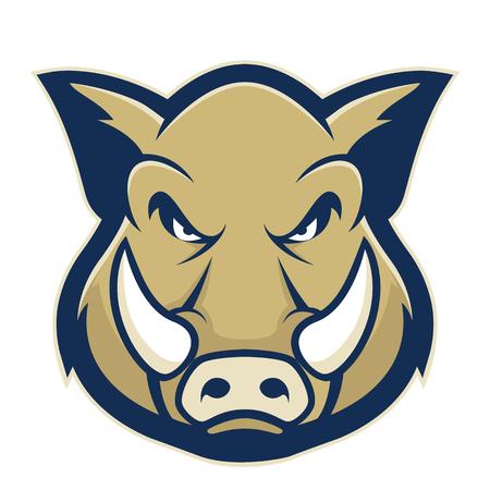 Mascota de cabeza de jabalí o cerdo salvaje
