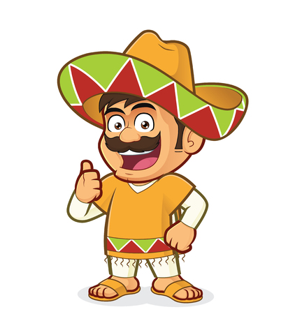 Mexican man giving thumbs up
