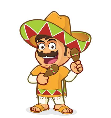 Mexican man with maracas