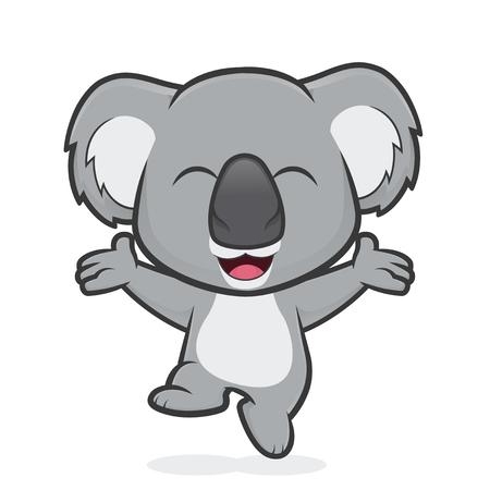 Feliz koala saltando Ilustración de vector