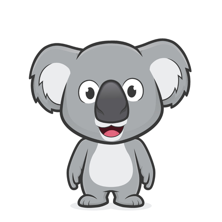 Koala standing.