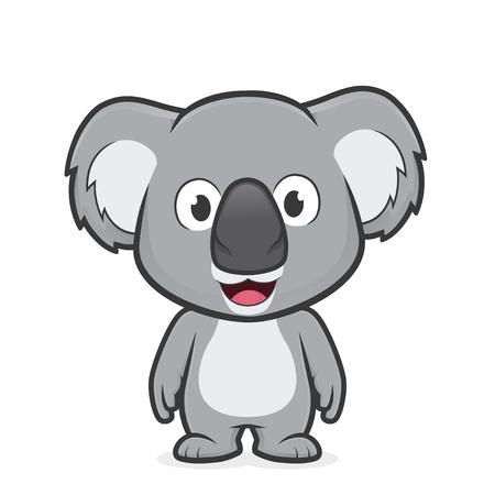 cuddly baby: Koala standing.